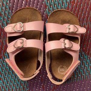 girls size5 pink wonder nation (berkenstocks)